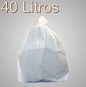 Saco de lixo 40 Litros Branco