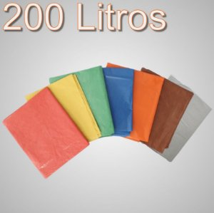 Saco de lixo 200 Litros Colorido