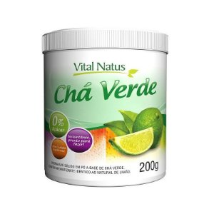 Chá Verde Solúvel Sabor Limão - 200g - Vital Natus