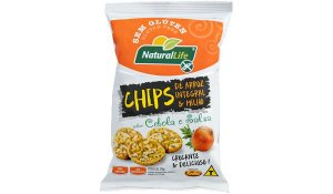 Chips Arroz Integral e Milho Cebola e Salsa Sem Glúten Kodilar 70g