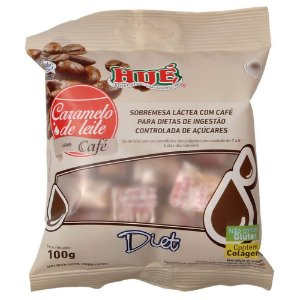 Caramelo De Leite Com Café Diet Hué Sem Glúten Com Colágeno 100GR