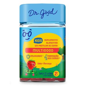 Dr good multigood kids morango 30 gomas