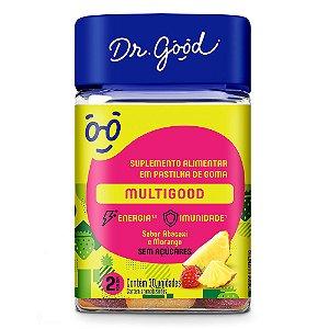 Dr good multigood morango abacaxi 30 gomas