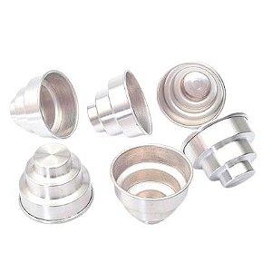 Forminha de Mini Bolo  Alumínio Duzia
