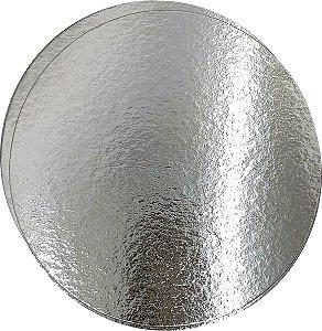 Disco de Papelão Laminado Prata 25cm