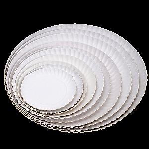 Prato de Papelão Branco N°12 - 35cm 100 Unidades
