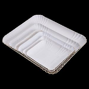 Bandejas de Papelão Branco N° 24 - 19x25 cm 100 Unidades