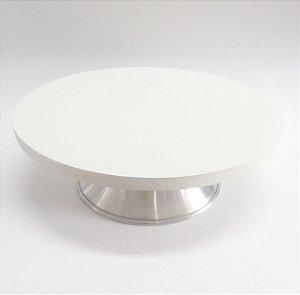 Bailarina Giratória em MDF e Alumínio - com Sistema de Esferas 40 cm Branca