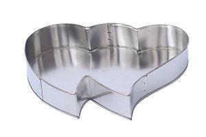 Forma Coração Entrelaçado Alumínio