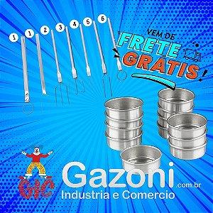 Kit Confeiteiro Forma Pão De Mel Duzia + Garfo Confeiteiro