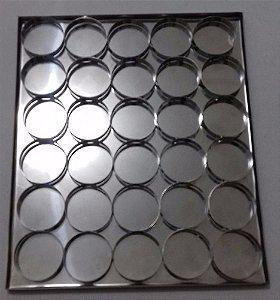 Fábrica Forma Para Mini Pizza E Esfihas Abertas 7cm E 12cm
