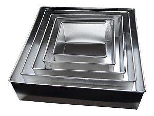 Formas Quadradas Altas Com 5 Peças Em Alumínio 10 Cm Altura