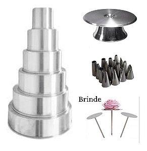 Kit Formas Redondas C6 + Bailarina+ 16 Bicos+ Brinde S. Ros
