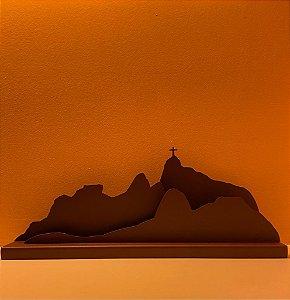 Escultura Rio de Janeiro 3D em Aço Corten