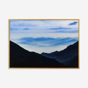QUADRO ABSTRACT BLUE GOLD