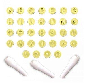Kit Carimbos Letras Amarelo