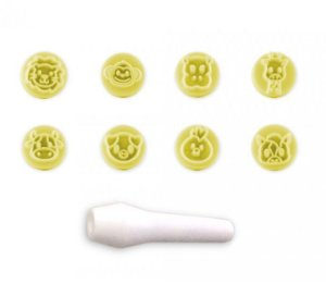 Kit Carimbos Animais Amarelo - Bluestar