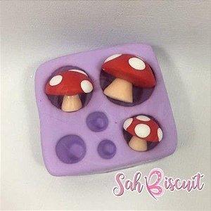 Molde Cogumelos Mágicos