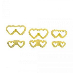 Cortador Óculos Coração