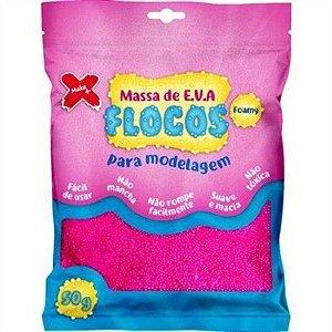 Massa de EVA Flocos 50g Rosa