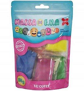 Massa de EVA Lisa 50g - 10 cores