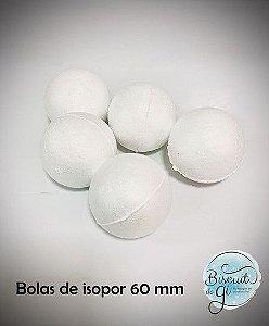 Bola de isopor 60mm - 5 unidades