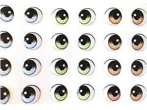 Olhos Adesivos Resinados 346