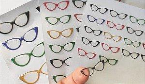 Óculos Transparente Resinados Cód. 523 c/ 3,5cm
