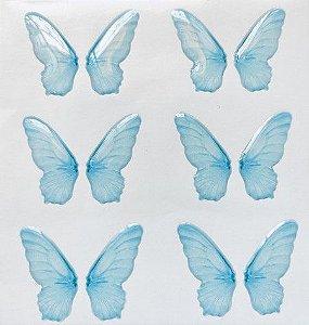 Asas Transp. Resinadas Cód. BO 01 Azul 3cm