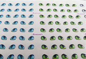 Olhos Adesivos Resinados Sortidos Cód. 346