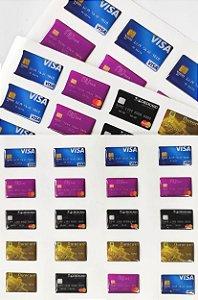 Cartela Adesiva Cartão de Crédito Sortido