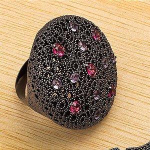 Anel Redondo com Pedras