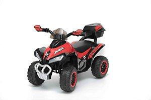 Mini Quadriciclo Elétrico Infantil 6V Vermelho - BW129VM da ImportWay