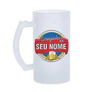 Caneca de Chopp Cervejinha Dele - Nome Personalizado