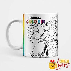Caneca para Colorir - Vingadores