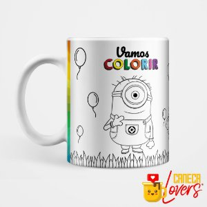 Caneca para Colorir - Minions