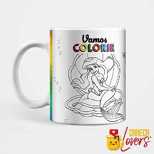 Caneca para Colorir - Pequena Sereia