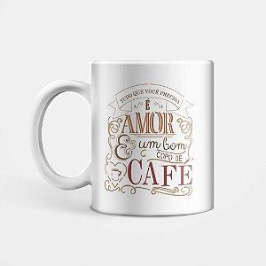 Caneca Amor e Café