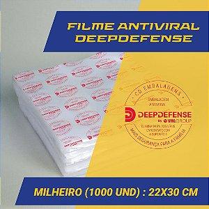 Embalagem Saco a Vácuo  22 x 30 cm - Antiviral DeepDefense- Milheiro (1.000 unidades)