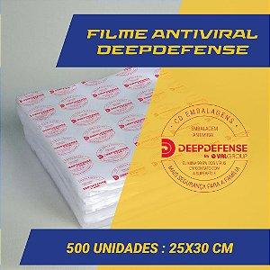 Embalagem Saco a Vácuo  25 x 30 cm - Antiviral DeepDefense - 500 unidades