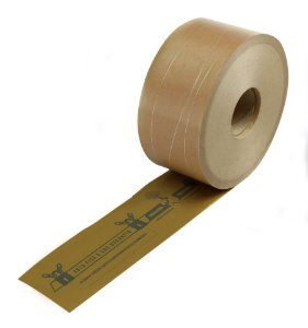 Caixa 12 Fitas Gomada Kraft Virgem Impressa Lacre De Segurança 80 mm X 190 Metros