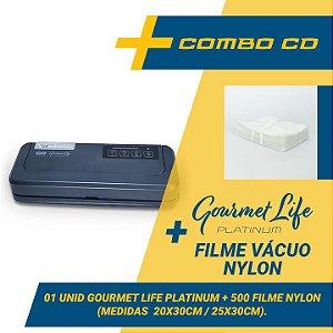 Combo Seladora a Vácuo Automatica Gourmet Life Platinum + 500 sacos (20x30 e 25x30)
