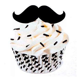 Kit para Decorar Cupcakes Bigode