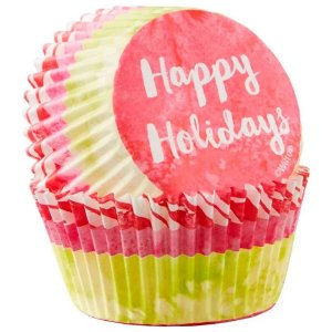 Happy Holidays Standard Baking Cup