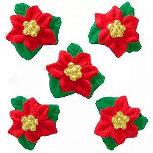 Enfeite de Natal em Açúcar Flor de Natal