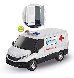 Brinquedo Carrinho Van Iveco Daily Ambulância Sirene E Luzes