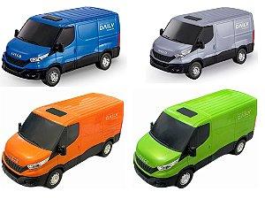 Carrinho Brinquedo Iveco Daily Van Miniatura Abre Porta
