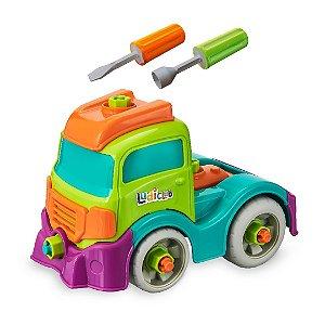 Brinquedo Educativo Caminhão Monta Desmonta Com Ferramentas