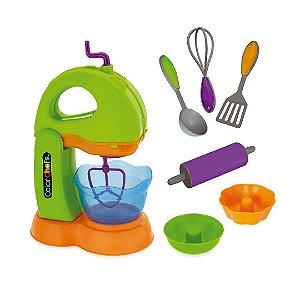 Kit Batedeira Color Chefs Cinco Acessórios Master Brinquedo