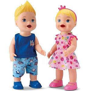 Bonecas My Little Gêmeos Papinha Mixer Diver Toys Acessórios